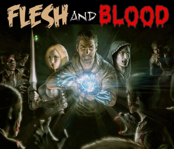 The cover of Flesh and Blood, by Kris Osk.